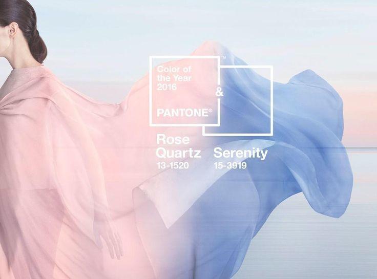 Colores del año: Serenity & Rose Quartz